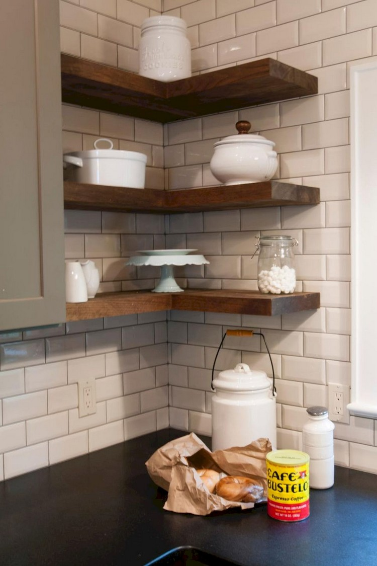 63 Smart Small Kitchen Remodel And Open Shelves Ideas