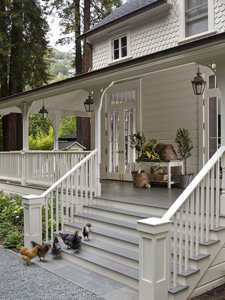 35 Beautiful Modern Living Room Interior Design Examples: 35 Beautiful Farmhouse Front Porch Steps Ideas