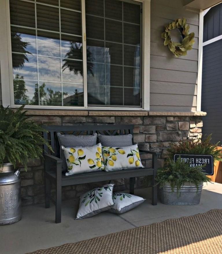 74 Top Farmhouse Front Porch Decorating Ideas